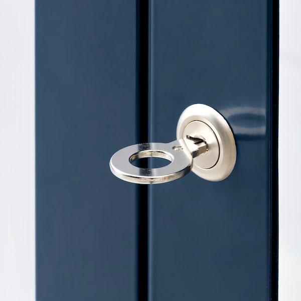 FABRIKÖR glass-door cabinet black-blue 81 cm 42 cm 113 cm 10 kg