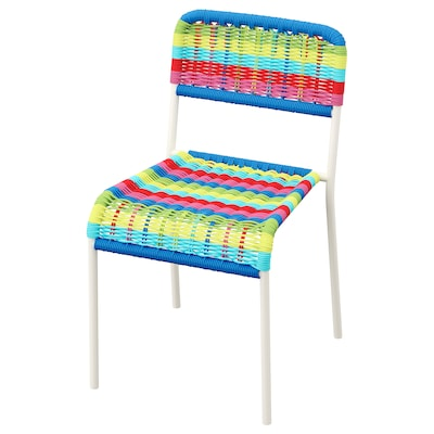 FÄRGGLAD Children's chair, in/outdoor/multicolour