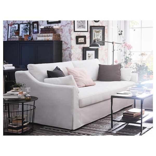 FÄRLÖV 3-seat sofa Flodafors white 88 cm 218 cm 106 cm 15 cm 61 cm 191 cm 64 cm 48 cm