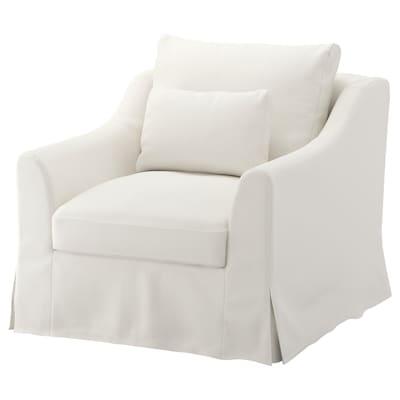 FÄRLÖV armchair Flodafors white 88 cm 93 cm 101 cm 15 cm 61 cm 66 cm 64 cm 48 cm