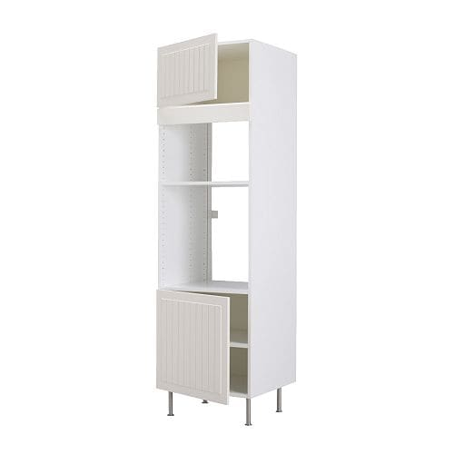 FAKTUM High cabinet f micro/oven/2 doors IKEA 2 reinforced shelves are included for higher stability when appliances are built in.