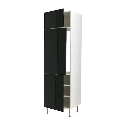FAKTUM High cabinet for fridge or freezer IKEA 2 reinforced shelves are included for higher stability when appliances are built in.
