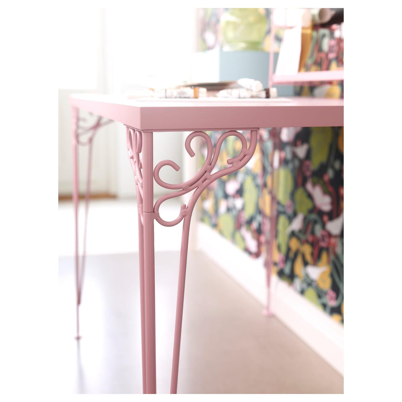 FALKHJDEN Desk Pink 110x65 cm IKEA