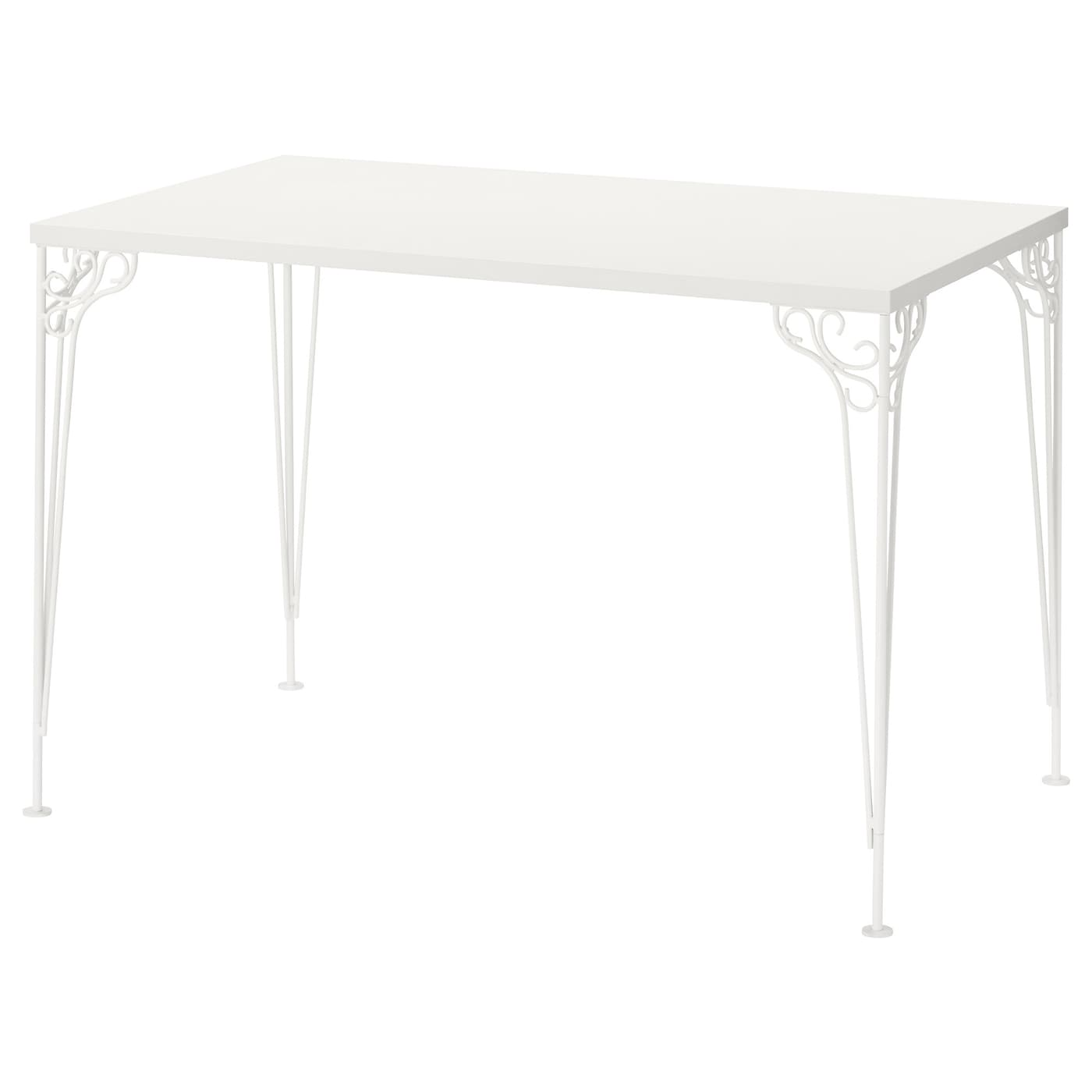 IKEA FALKHÖJDEN desk The melamine surface is durable, stain resistant and easy to keep clean.
