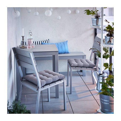 falster bench outdoor grey 130 cm ikea. Black Bedroom Furniture Sets. Home Design Ideas
