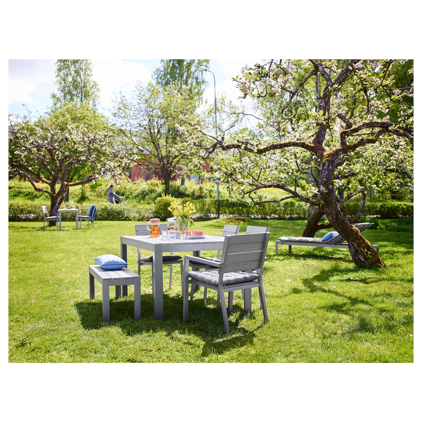 Ikea falster garden furniture design youtube - Ikea Falster Bench Outdoor The Polystyrene Slats Are Weather Resistant And Easy To Care