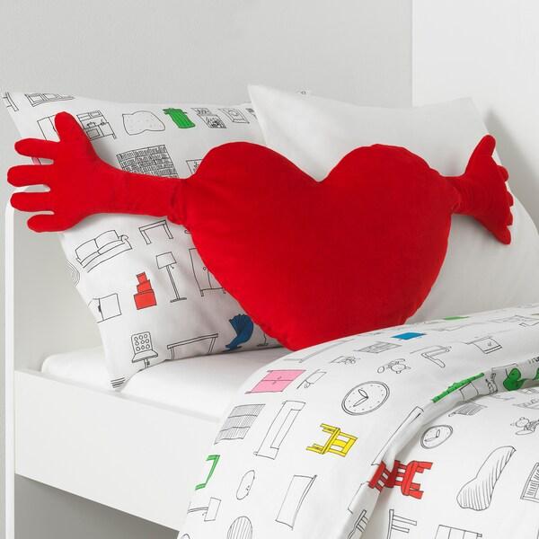 FAMNIG HJÄRTA cushion red 40 cm 101 cm