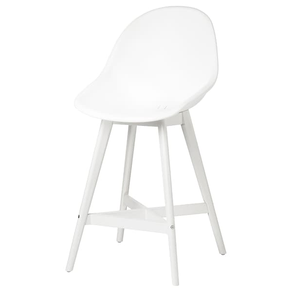 Peachy Bar Stool With Backrest In Outdoor Fanbyn White White Pabps2019 Chair Design Images Pabps2019Com