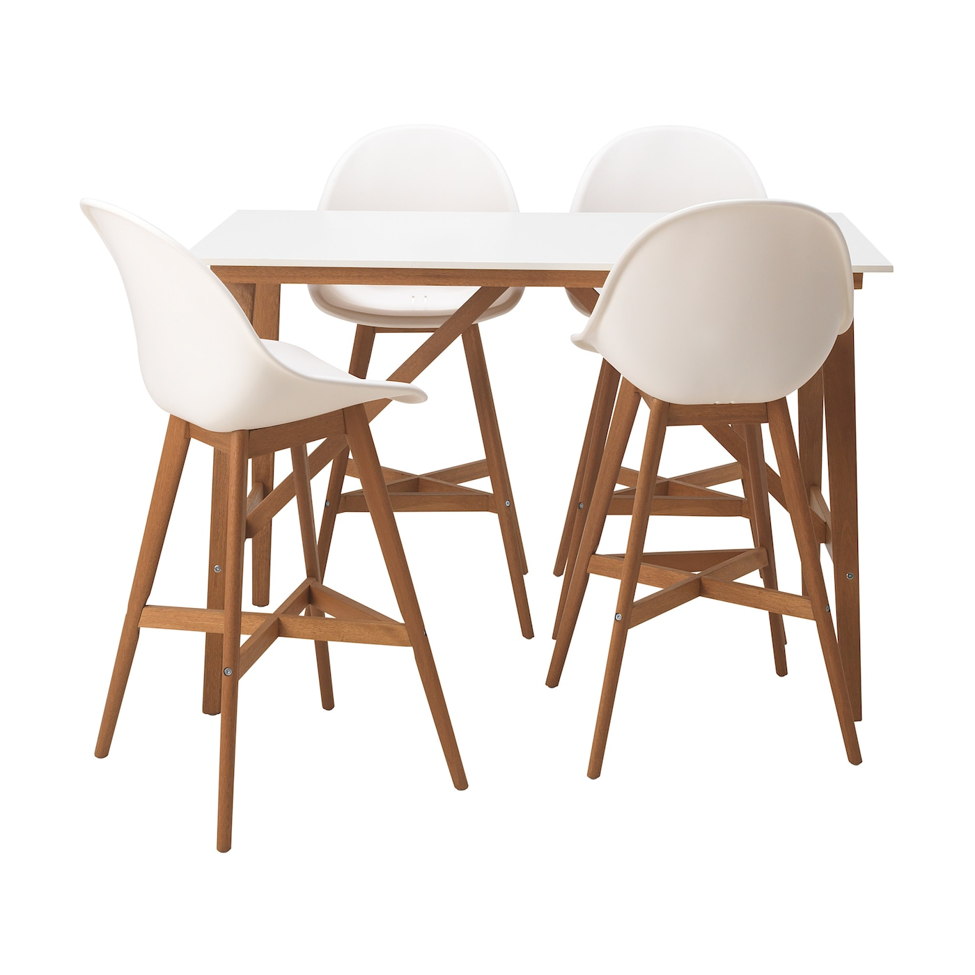IKEA FANBYN bar table and 4 bar stools