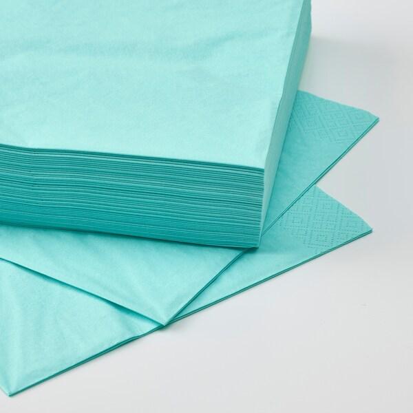 FANTASTISK Paper napkin, light turquoise, 40x40 cm