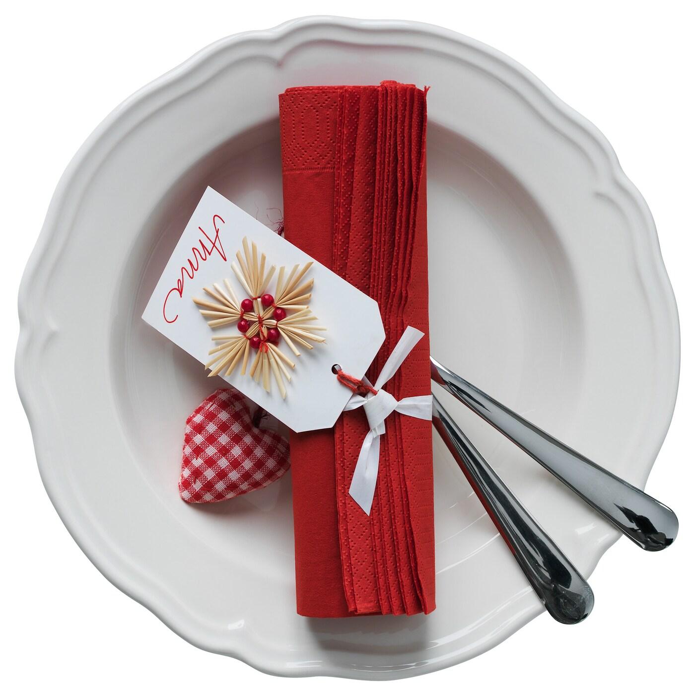 fantastisk paper napkin red 40x40 cm ikea. Black Bedroom Furniture Sets. Home Design Ideas
