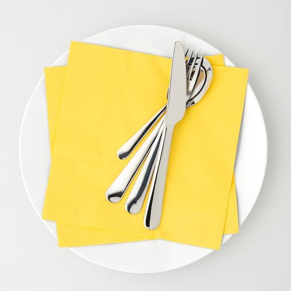 FANTASTISK Paper napkin, yellow, 40x40 cm