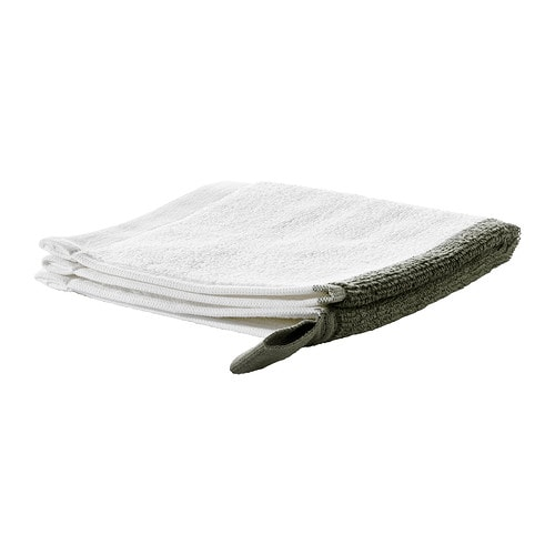 FÄRGLAV Washcloth IKEA A terry towel in medium thickness that is soft and highly absorbent (weight 550 g/m²).