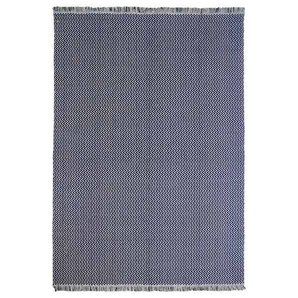 FASTERHOLT Rug, flatwoven, handmade dark blue, 170x240 cm