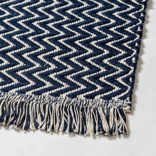 Handmade Dark Blue Rug Flatwoven