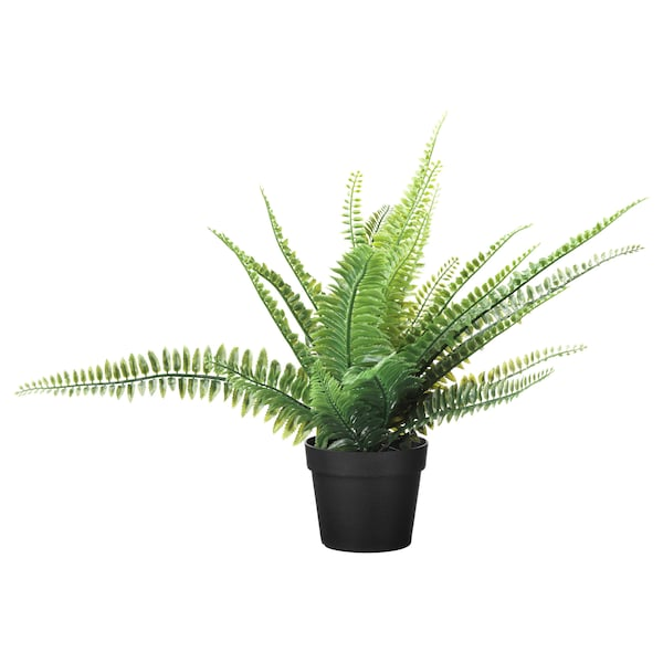 FEJKA Artificial potted plant, in/outdoor fern, 9 cm