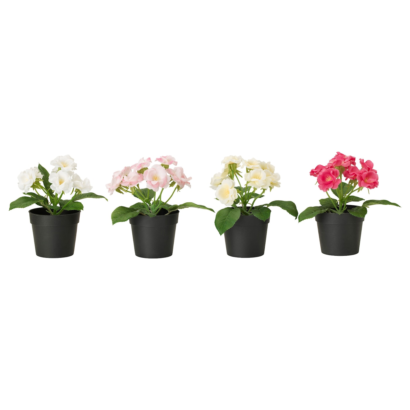 Fejka artificial potted plant rose assorted colours 9 cm for Ikea plantes