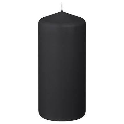 FENOMEN Unscented block candle, matt/black, 14 cm
