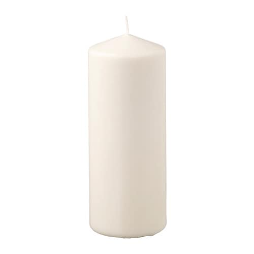 fenomen unscented block candle natural 20 cm ikea
