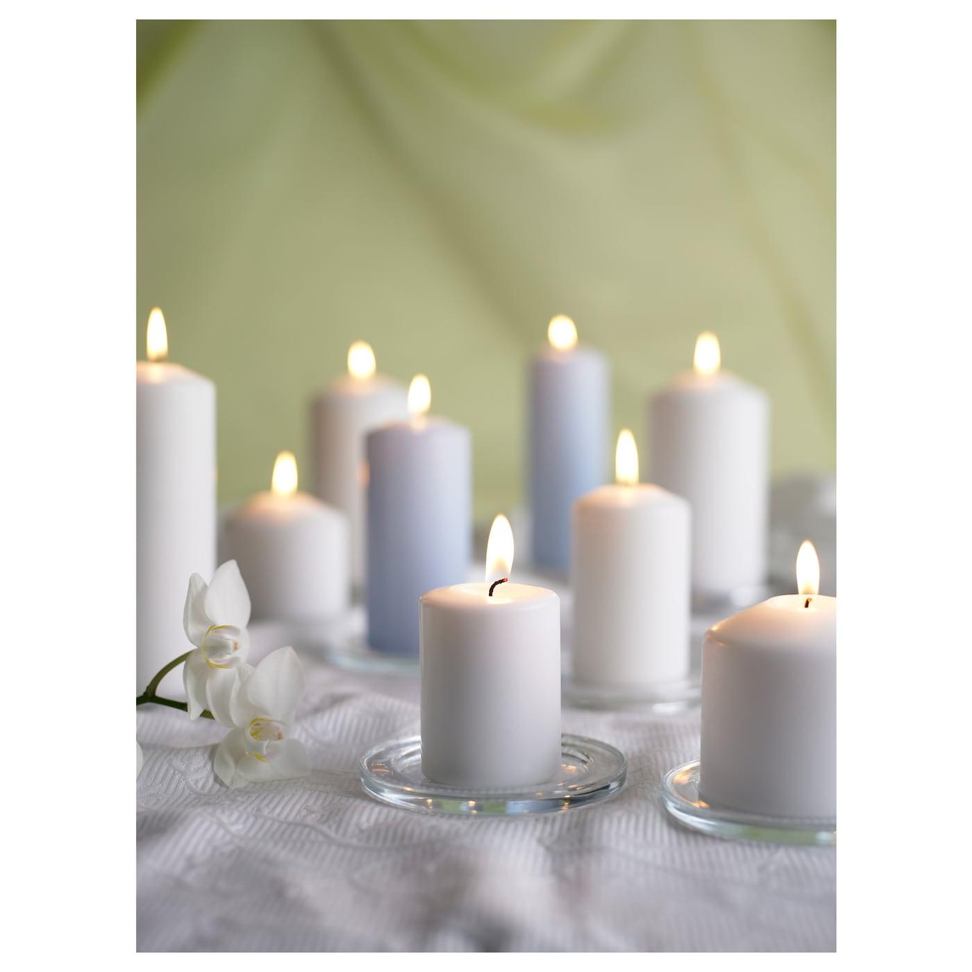 Fenomen unscented block candle set of 5 white ikea for Stufa candele ikea