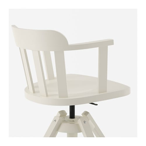 Feodor swivel chair with armrests white ikea for Ikea white swivel chair