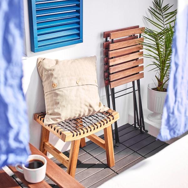 FESTHOLMEN Cushion cover, in/outdoor/beige, 50x50 cm