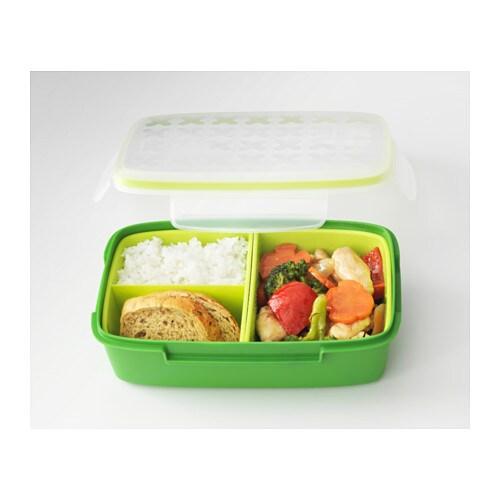festm ltid lunch box green 22x14x7 cm ikea. Black Bedroom Furniture Sets. Home Design Ideas
