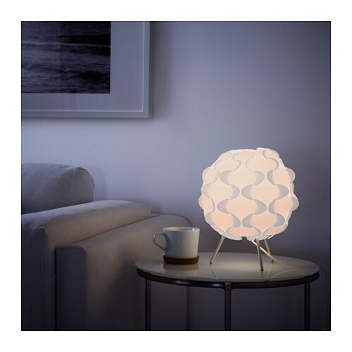 IKEA FILLSTA table lamp Gives a soft mood light.