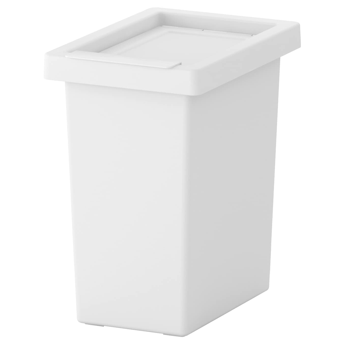 Filur bin with lid white 10 l ikea for Ikea trash cans