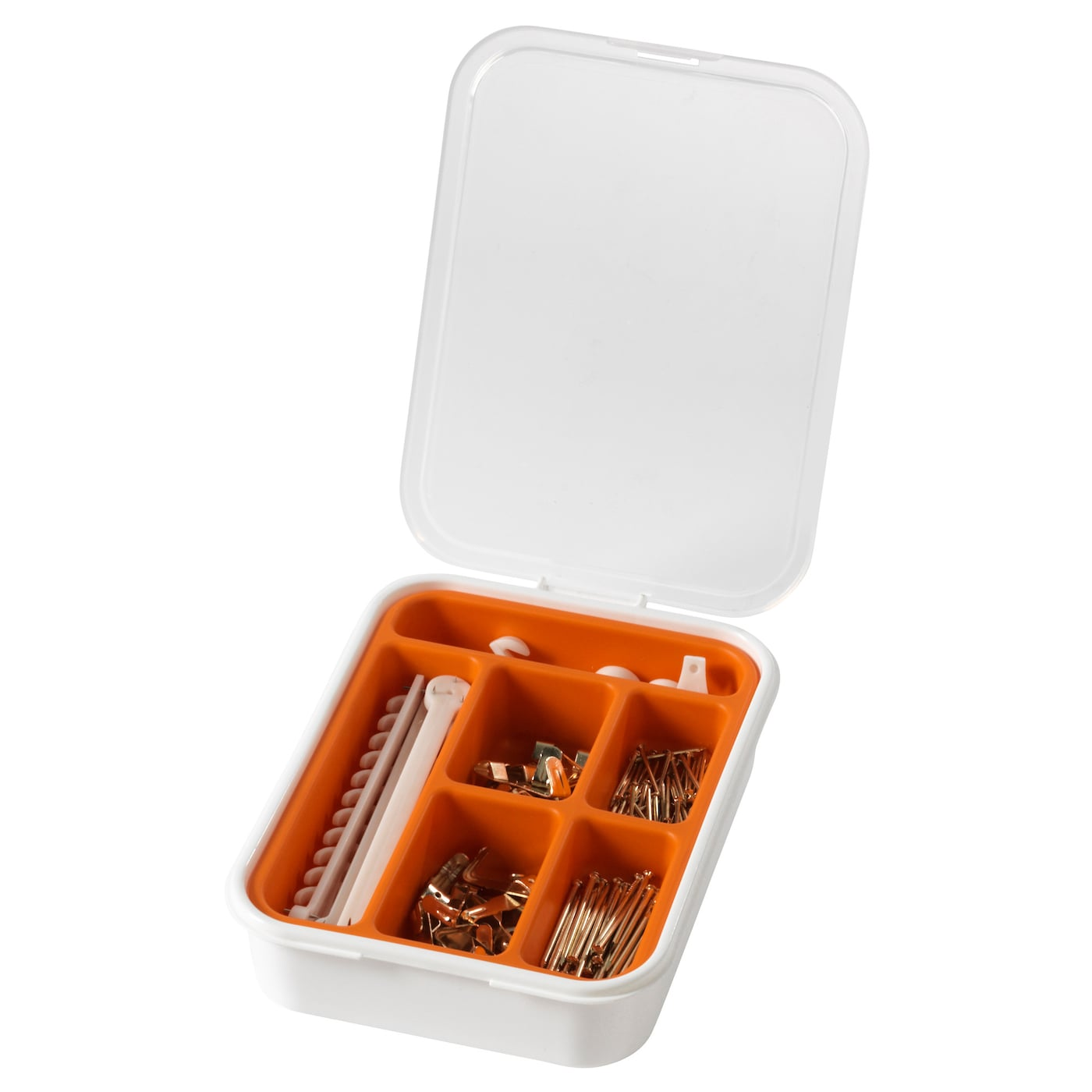 IKEA FIXA 116-piece picture hook set Can be stacked with other boxes in the FIXA series.