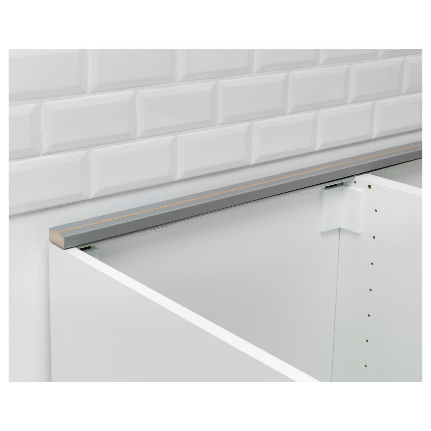 FIXA Rear edge trim for worktop Grey 221 cm - IKEA