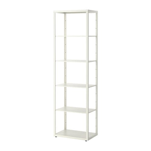 fj lkinge shelving unit white 58x193 cm ikea. Black Bedroom Furniture Sets. Home Design Ideas