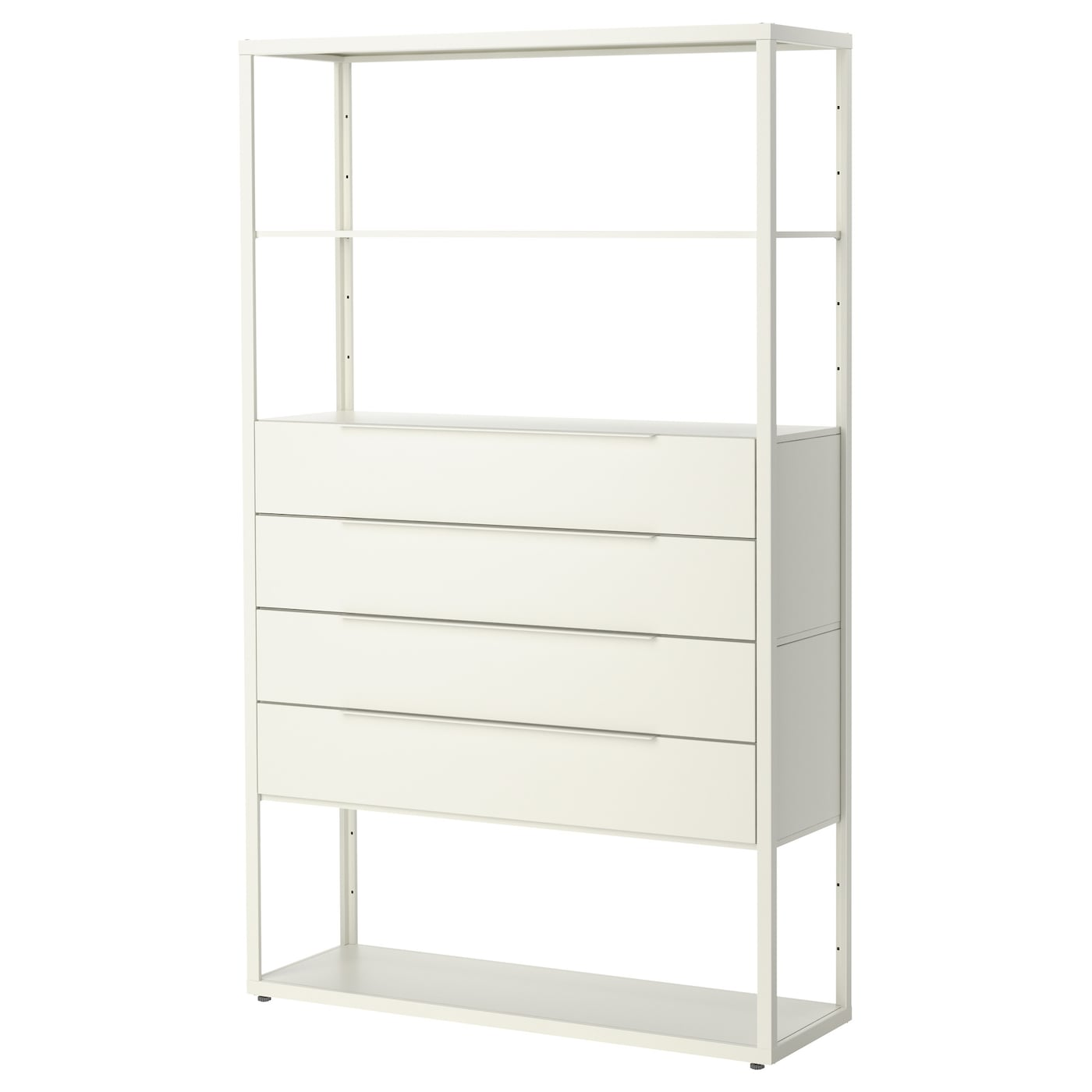 fj lkinge shelving unit with drawers white 118x193 cm ikea. Black Bedroom Furniture Sets. Home Design Ideas