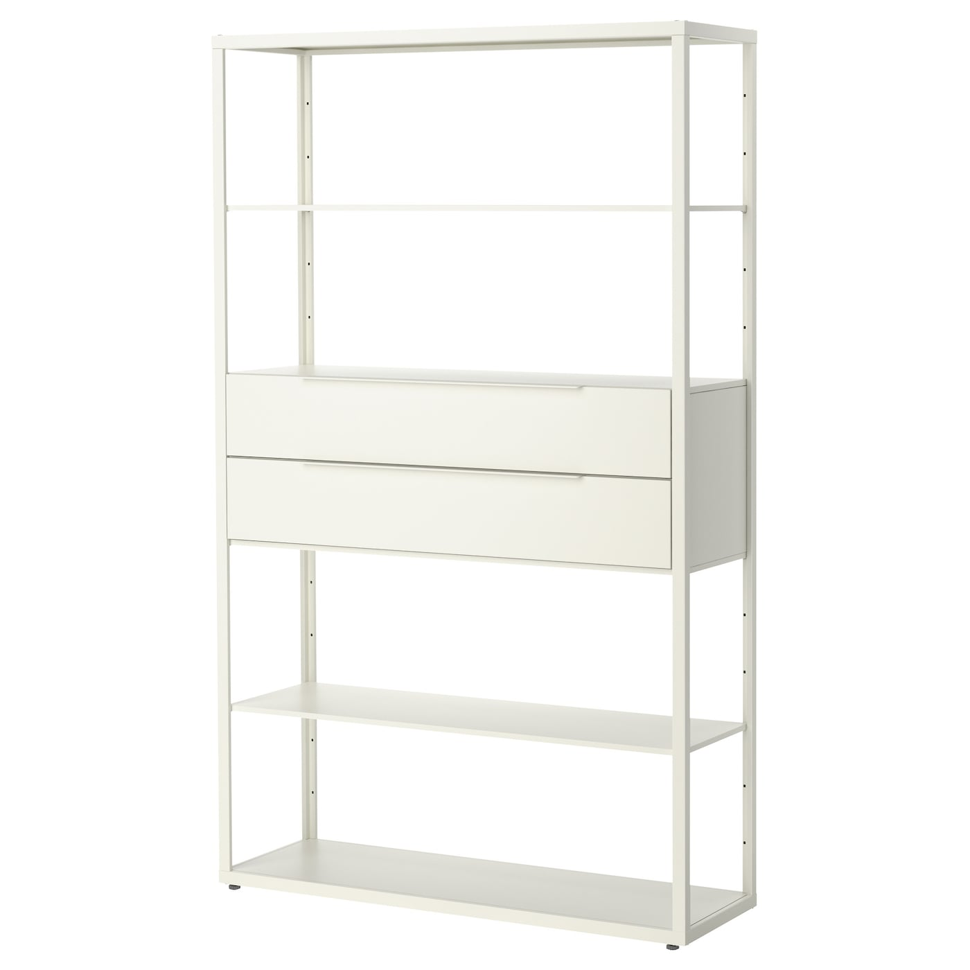 "FJ""LKINGE Shelving unit with drawers White 118x193 cm IKEA"
