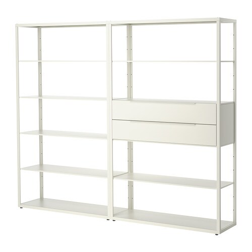 IKEA FJÄLKINGE shelving unit with drawers