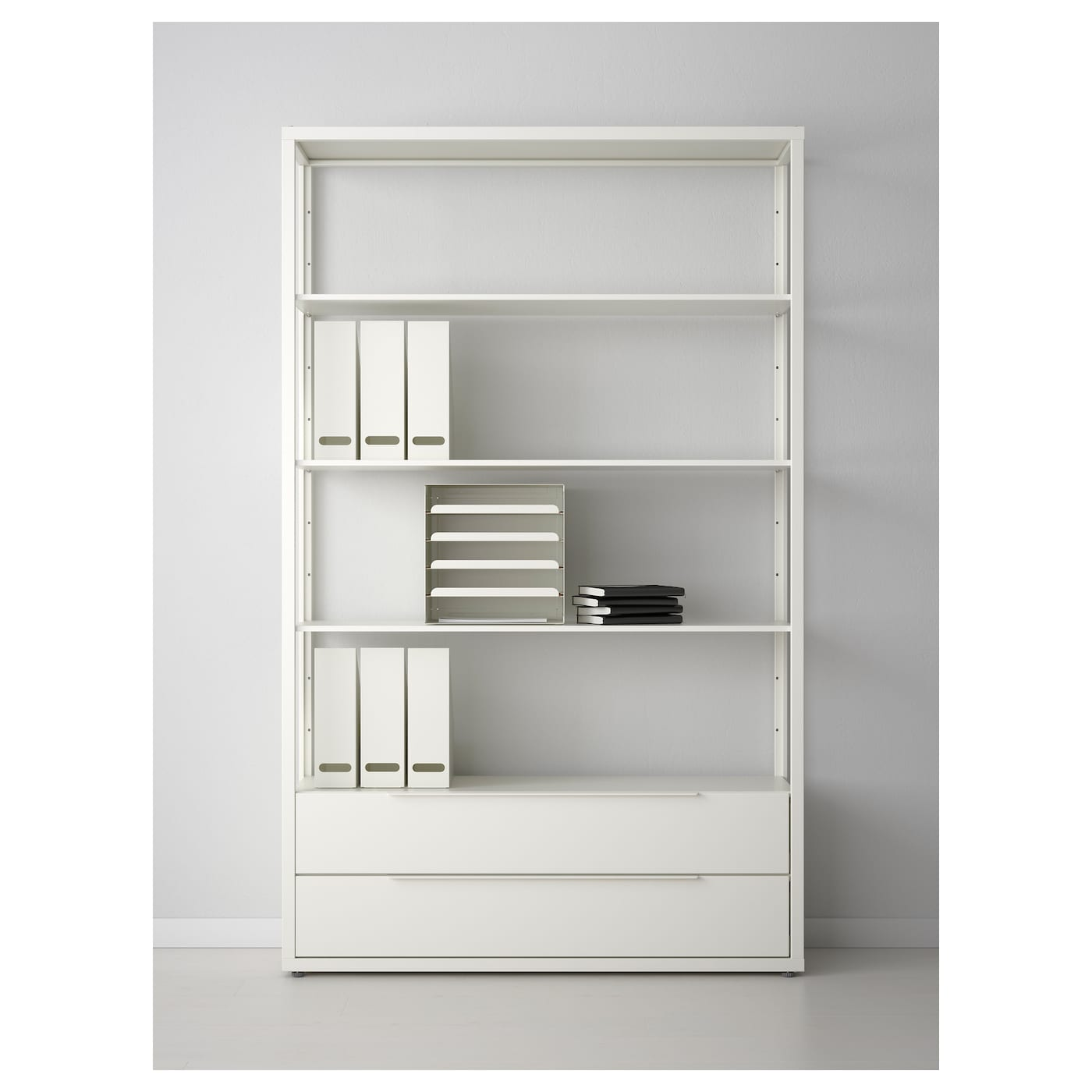 fj lkinge shelving unit with drawers white 118 x 193 cm ikea. Black Bedroom Furniture Sets. Home Design Ideas