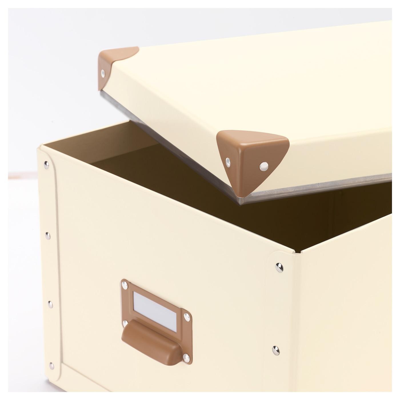 fj lla box with lid off white 27x36x20 cm ikea. Black Bedroom Furniture Sets. Home Design Ideas
