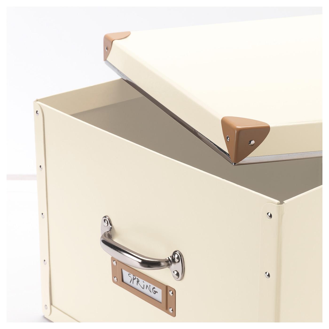 Fj Lla Box With Lid Off White 40x56x28 Cm Ikea