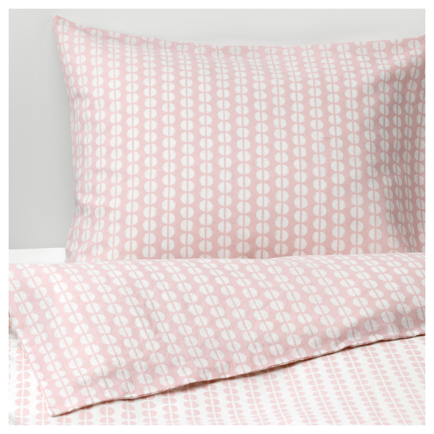 Fj llvedel quilt cover and 2 pillowcases pink 240x220 for Draps housse ikea