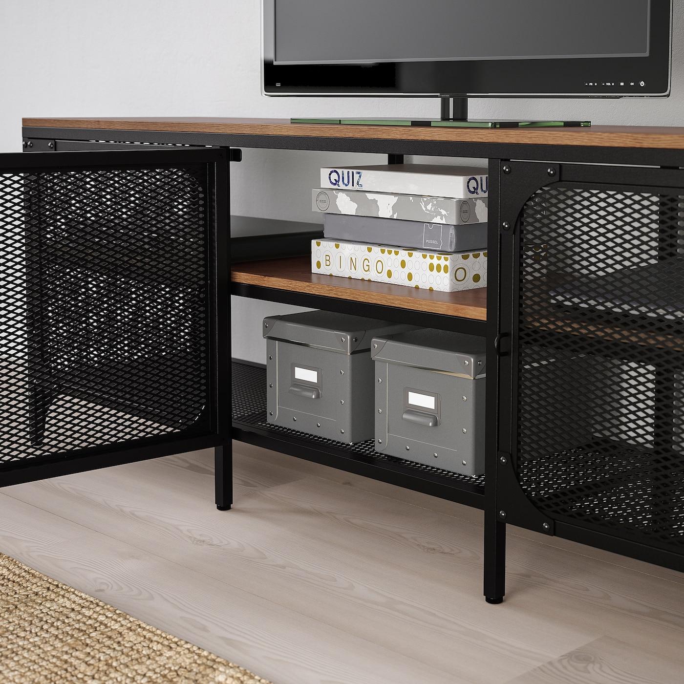 fjallbo tv bench black 150x36x54 cm