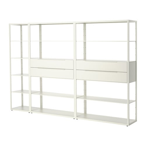 Sale alerts for Ikea FJÄLKINGE Shelving unit with drawers, white - Covvet