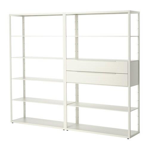 Fj 196 Lkinge Shelving Unit With Drawers Ikea