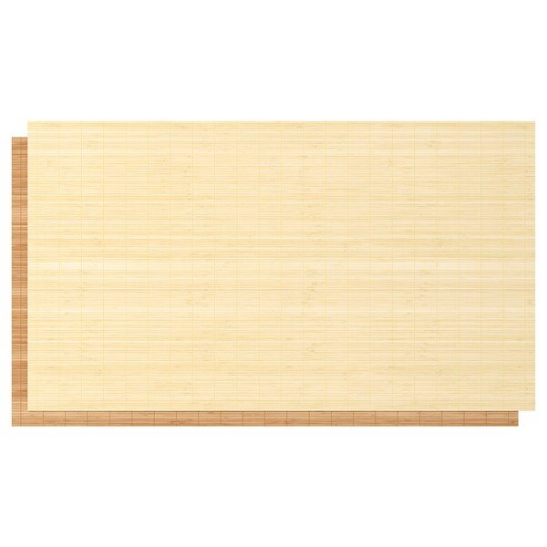 FJELLHAMAR 4 panels for sliding door frame, bamboo/double sided, 100x236 cm