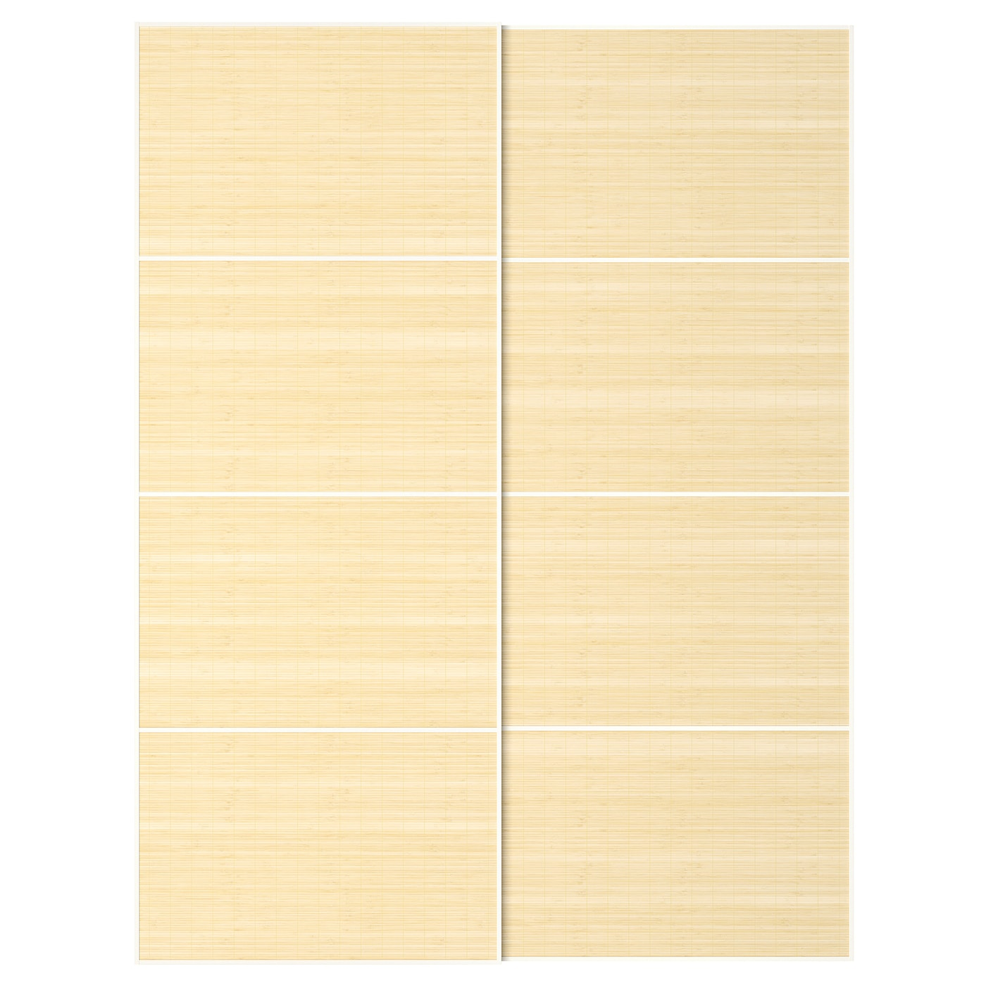 IKEA FJELLHAMAR pair of sliding doors Bamboo is a durable, renewable and sustainable material.