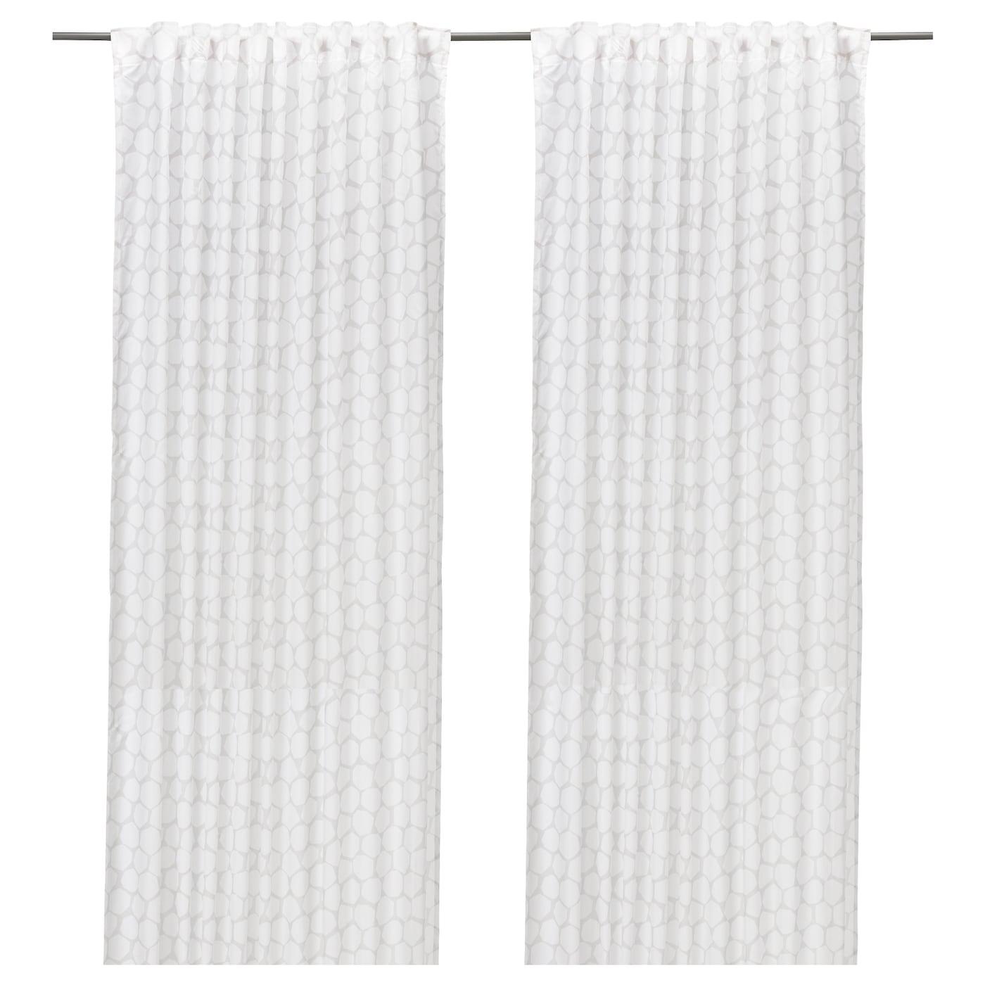 Fl Ng Curtains 1 Pair Grey 145x250 Cm Ikea