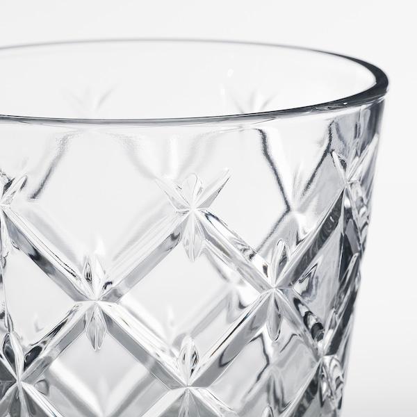 FLIMRA goblet clear glass/patterned 13.7 cm 23 cl