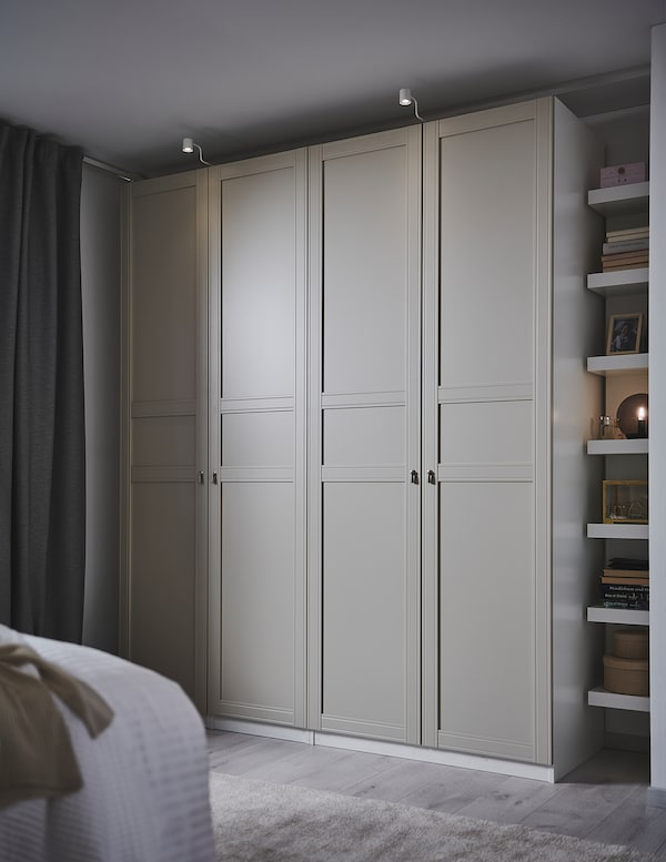 FLISBERGET Door, light beige, 50x229 cm