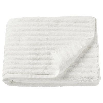 FLODALEN Bath towel, white, 70x140 cm
