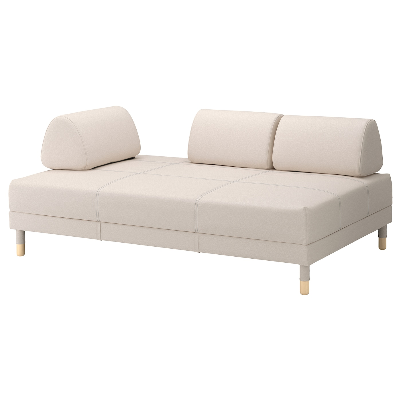 Flottebo sofa bed vissle beige 120 cm ikea for 90 cm sofa bed