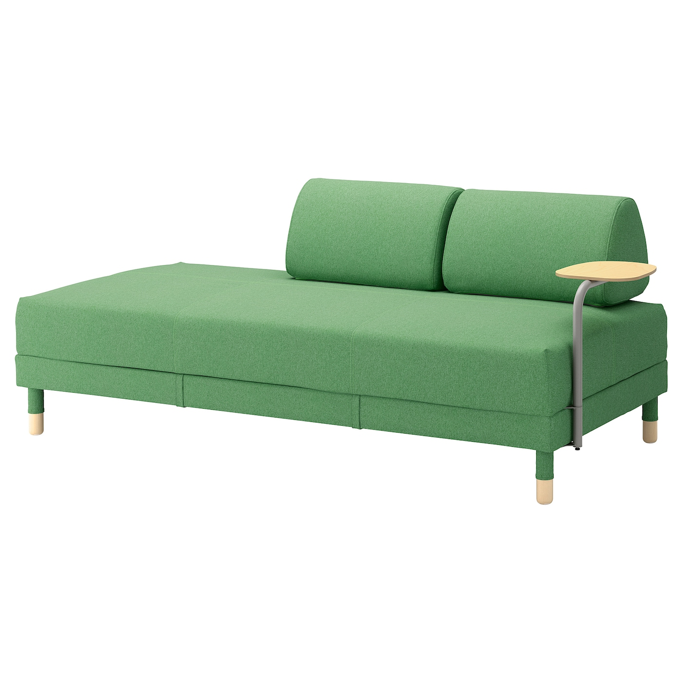 Flottebo Sofa Bed With Side Table Lysed Green 90 Cm Ikea